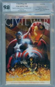 Civil War #1 Aspen Variant PGX Comics Signature Series SS 9.8 Signed Michael Turner